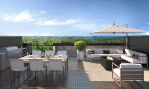 Rendering of 11 Altamont Towns rooftop terrace.