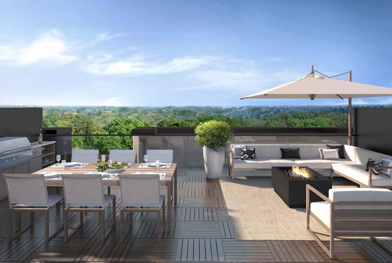 Rendering of 11 Altamont Towns rooftop terrace.