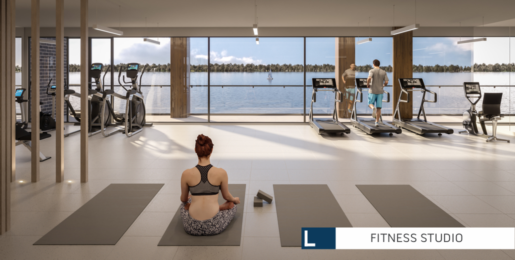 Rendering of Lākhouse Condos Fitness Studio