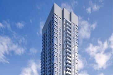 Partial exterior rendering of 5306 Yonge Street Condos.