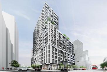 Exterior rendering of Empire Quay House Condos in Toronto