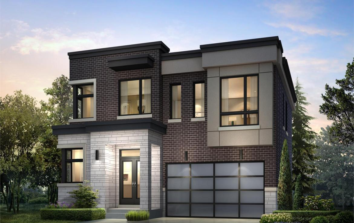 Exterior rendering of Frenchman's Bay detached home 1.