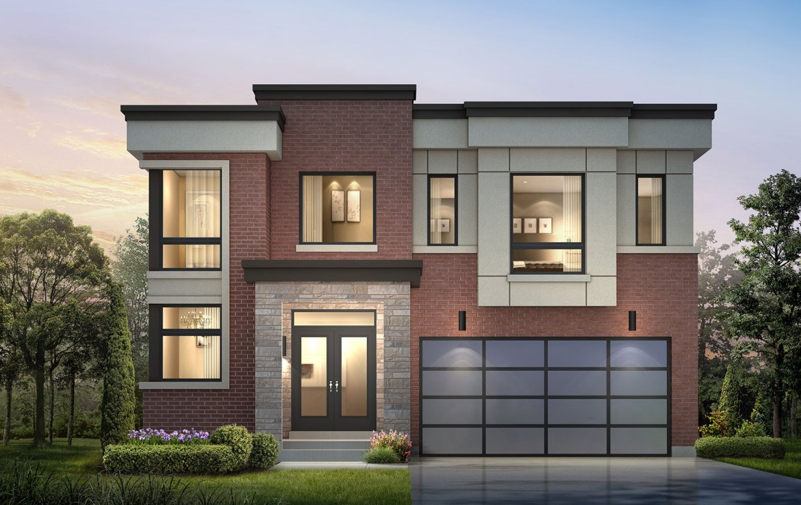 Exterior rendering of Frenchman's Bay detached home 3.