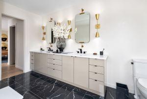 Rendering of Frenchman's Bay suite interior bathroom.