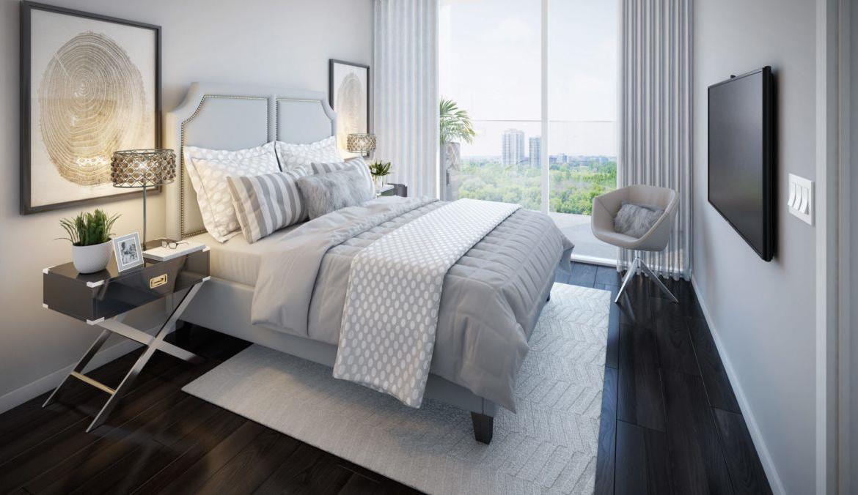 Rendering of a bedroom suite of GO.2 Condos.