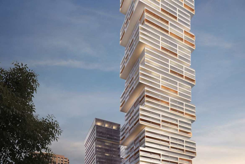 Full exterior rendering of 88 East Condos.
