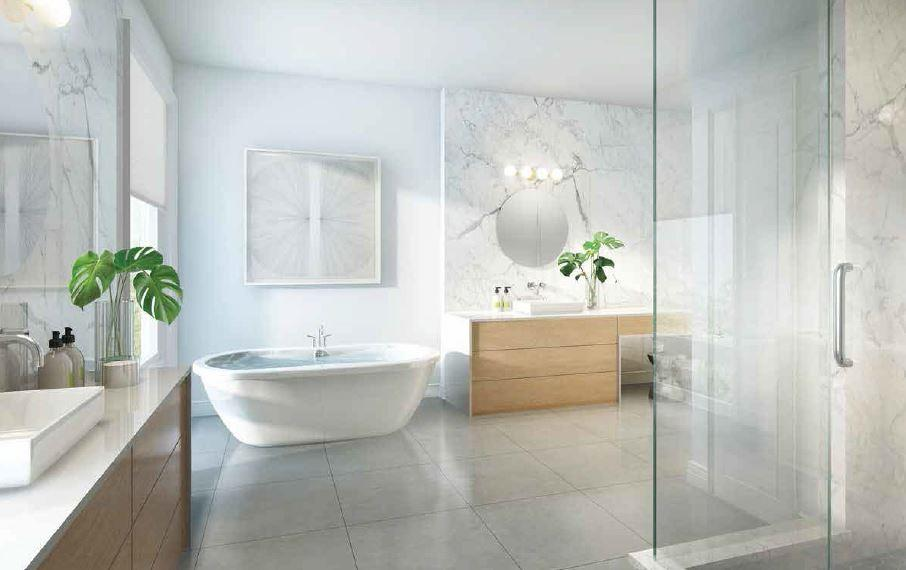 Interior rendering of The Riverside Residences bathroom.