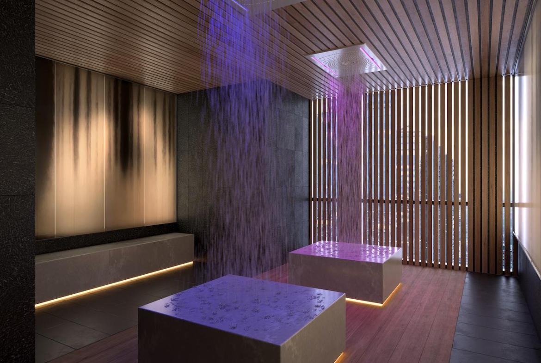 The Saint Condos rain room