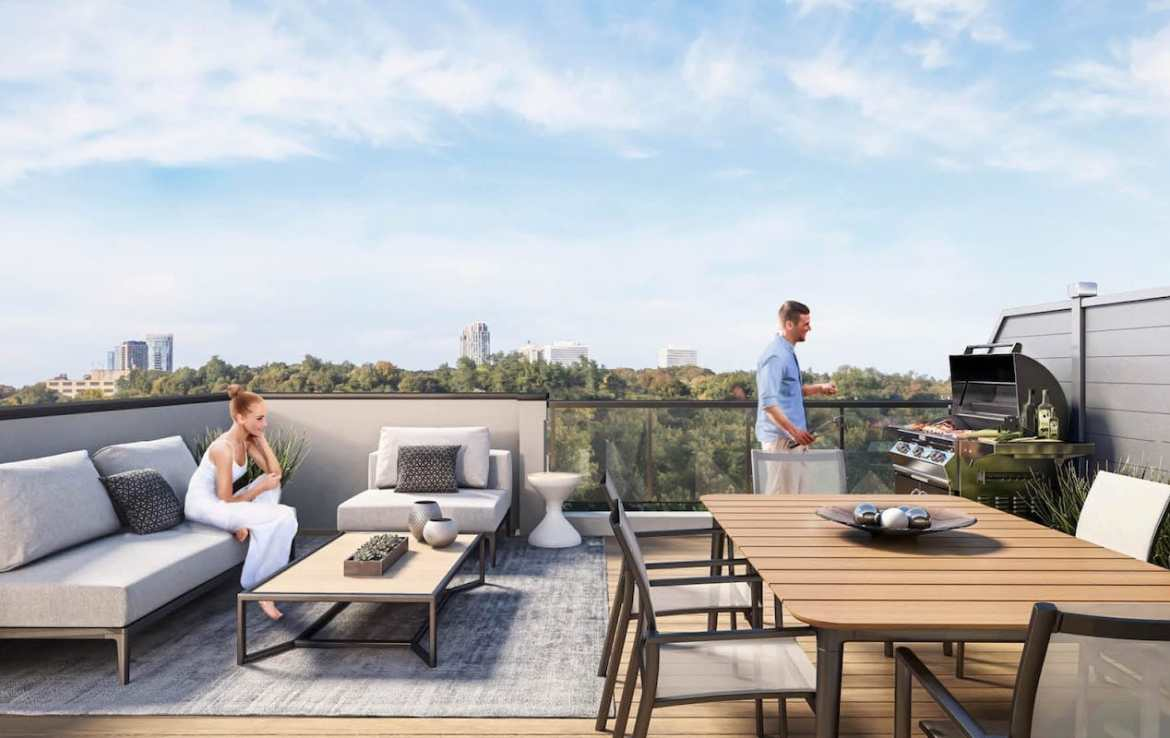 Rendering of The Way Towns 2 rooftop terrace.