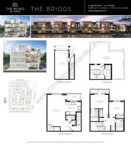 The Bond on Yonge floor plan The Briggs