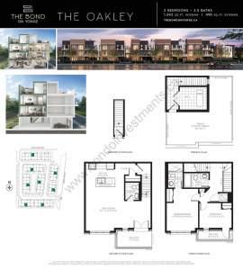 The Bond on Yonge floor plan The Oakley