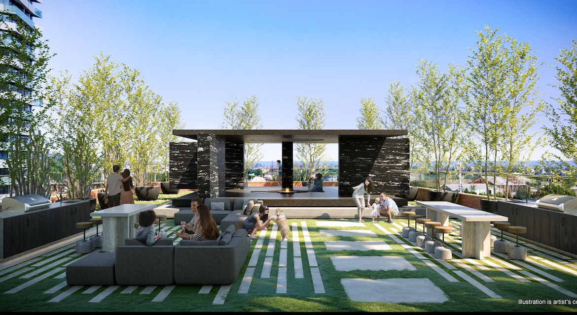 Rooftop terrace rendering of No. 31 Parliament Condos.