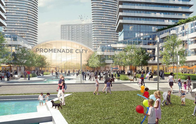 Exterior rendering of Promenade Park Towers outdoor play area.