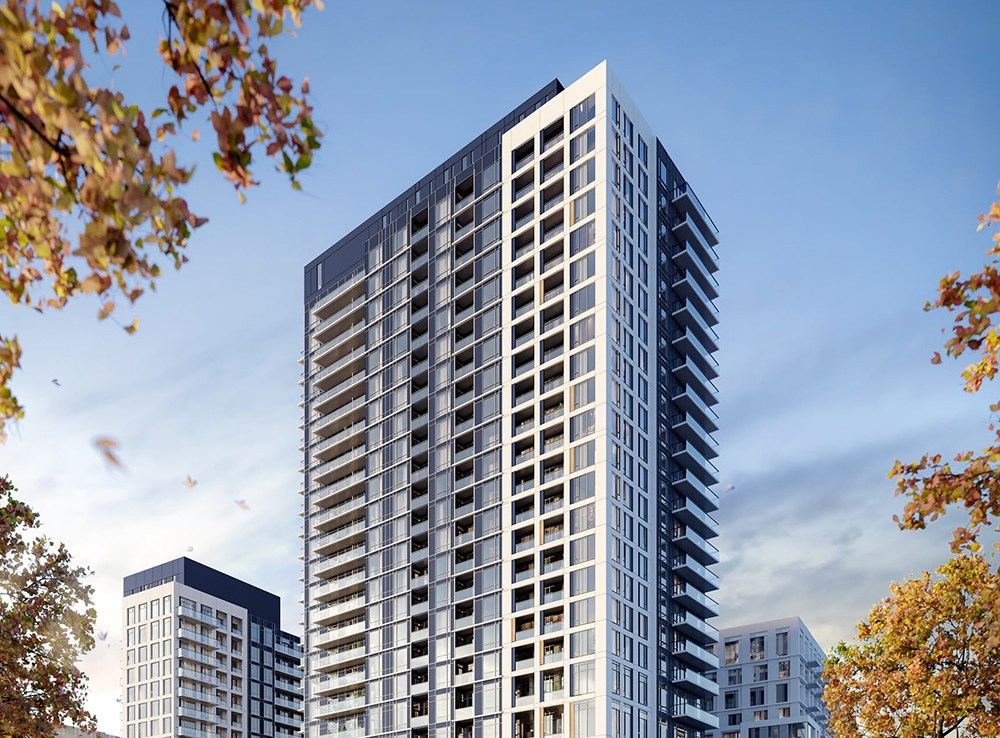 Exterior rendering of The Thornhill Condos Community in Vaughan.