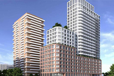 Exterior rendering of 78 Park Street East Condos