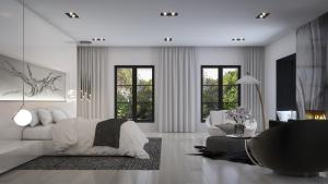 Rendering of 469 Spadina Homes interior bedroom.