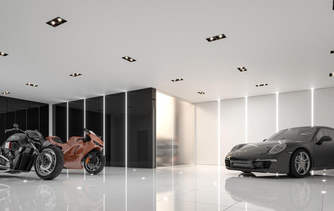Rendering of 469 Spadina Homes interior car garage.