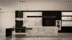 Rendering of 469 Spadina Homes interior kitchen.