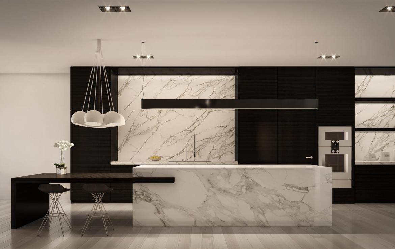 Rendering of 469 Spadina Homes interior kitchen.