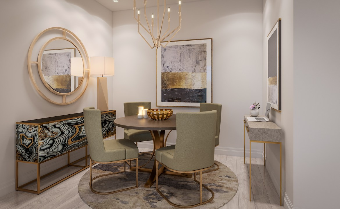 ORO Condos Suite Dining Room