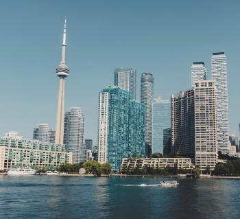 Waterfront skyline of Toronto