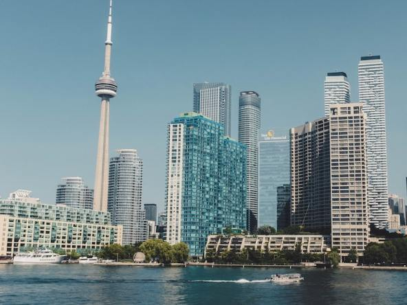 Waterfront skyline of Toronto