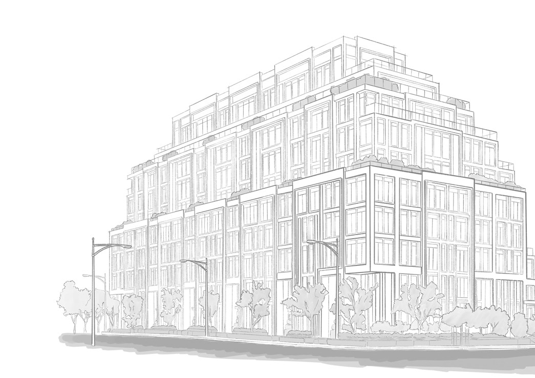Artist sketch of The Forest Hill Private Residences in Toronto.