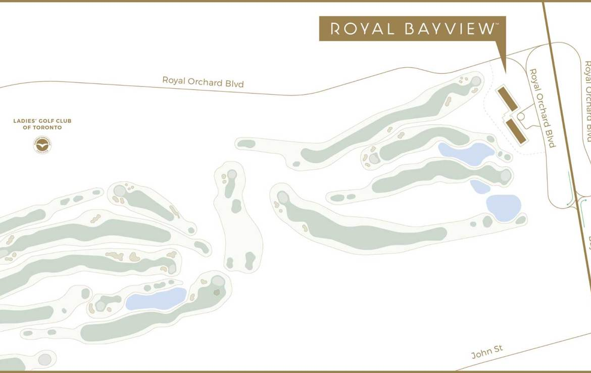 Map of Royal Bayview Condos.