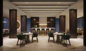 Rendering of Canary House Condos party room