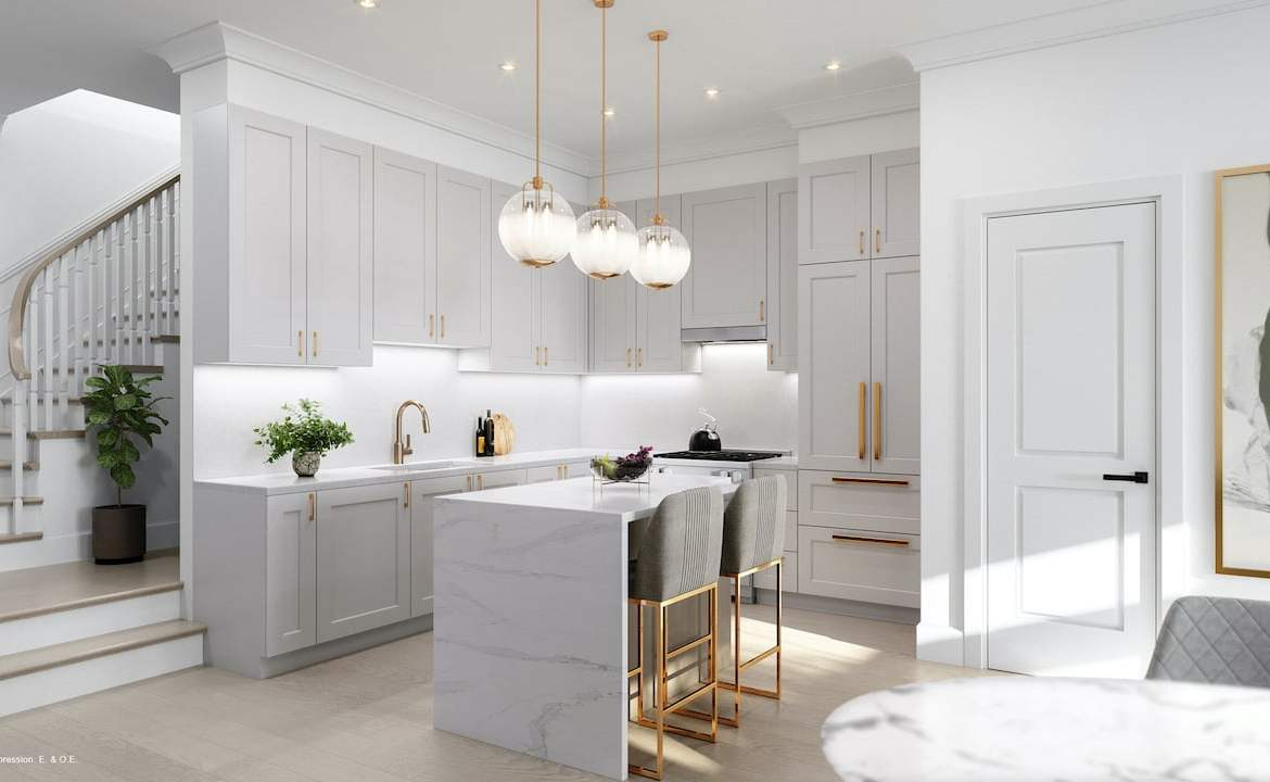 Rendering of Harbour Place Towns kitchen