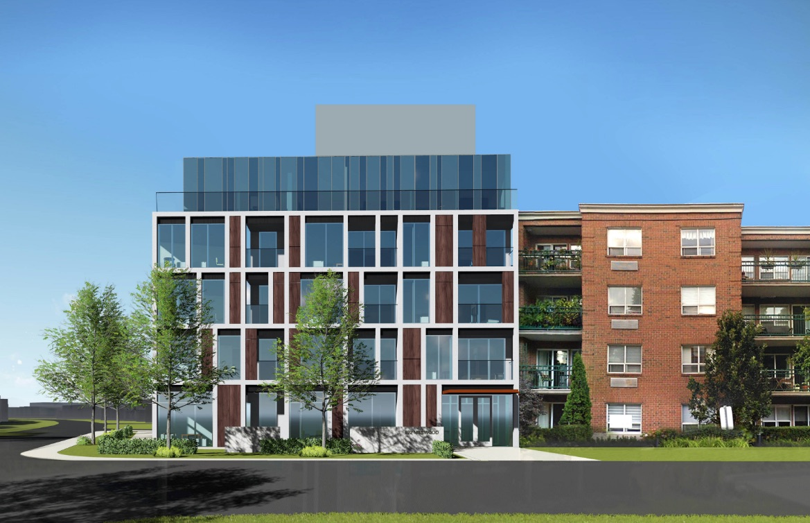 Rendering of 922 Millwood Road Condos facing north.