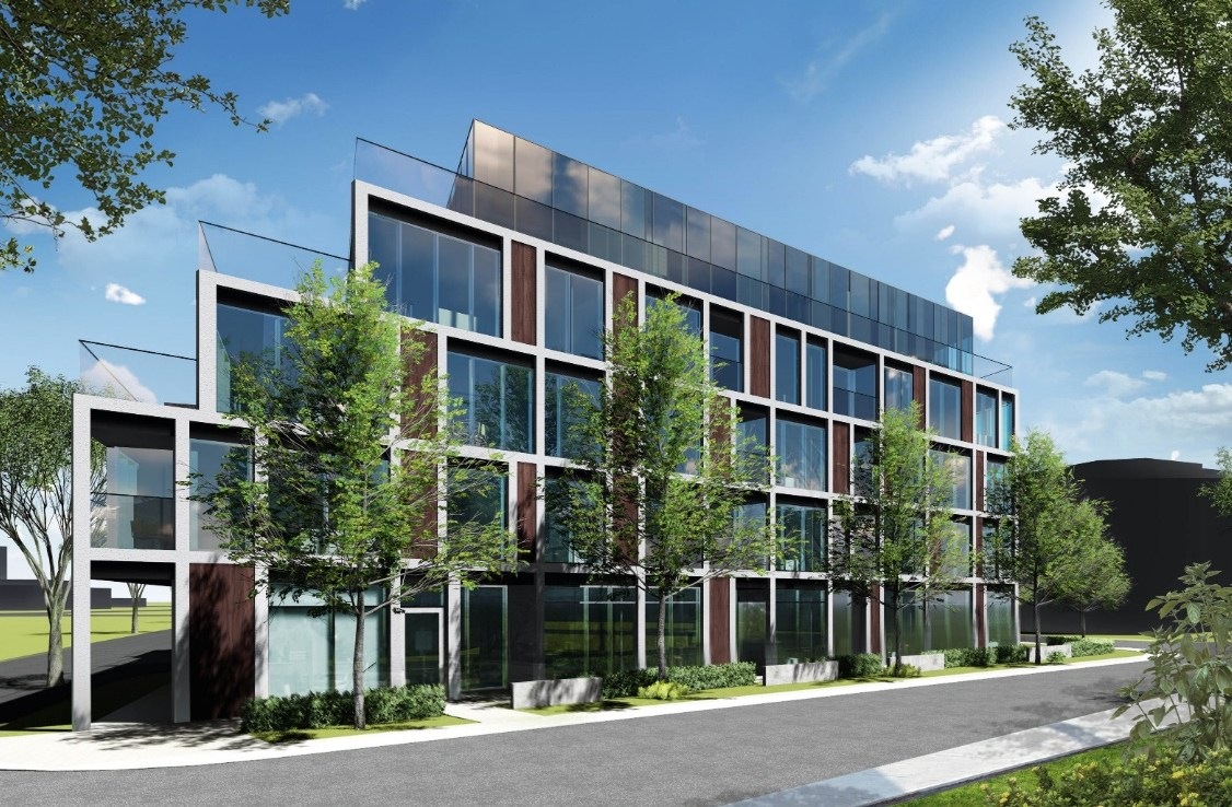 Rendering of 922 Millwood Road Condos facing South-East.