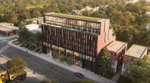 Aerial rendering of 1414 Bayview Condos in Toronto