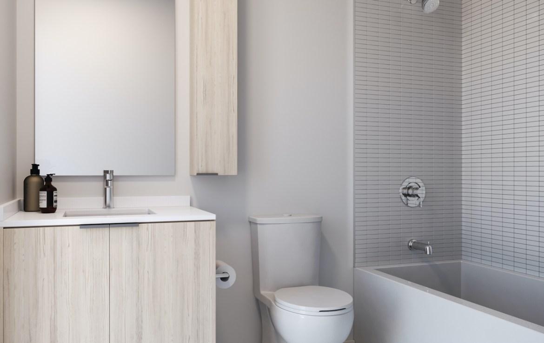 Rendering of ARTFORM Condos bathroom light.