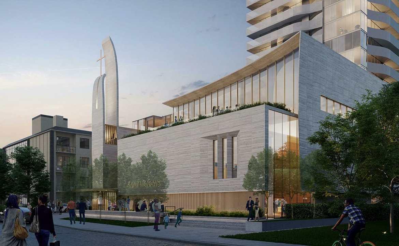 Exterior rendering of 44 Broadview Avenue Condos.