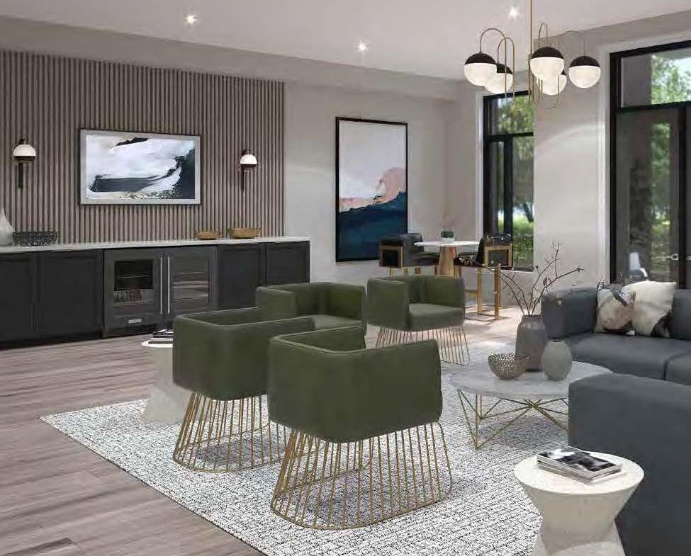 Rendering of Spur Line Common party room