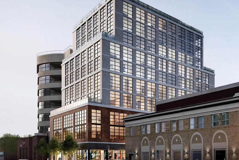 Exterior rendering of Warehouse Lofts Toronto