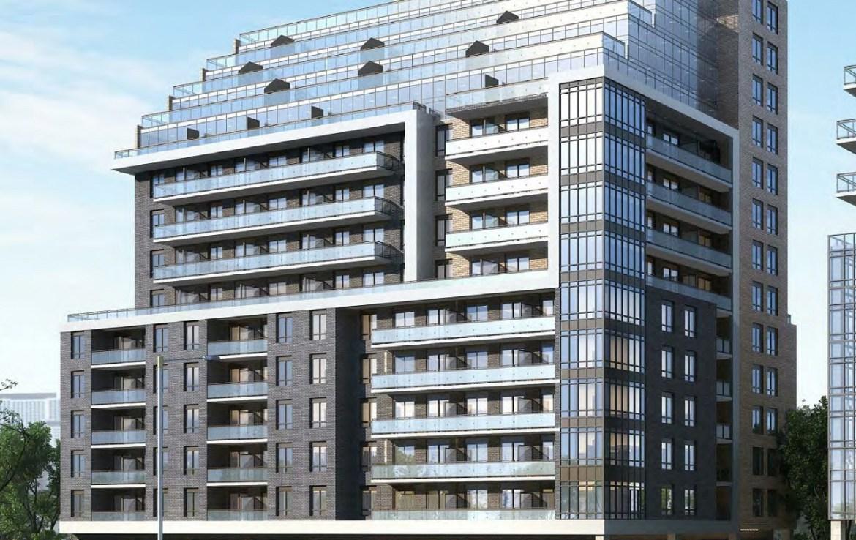 Rendering of 3445 Sheppard East Condo building exterior 2