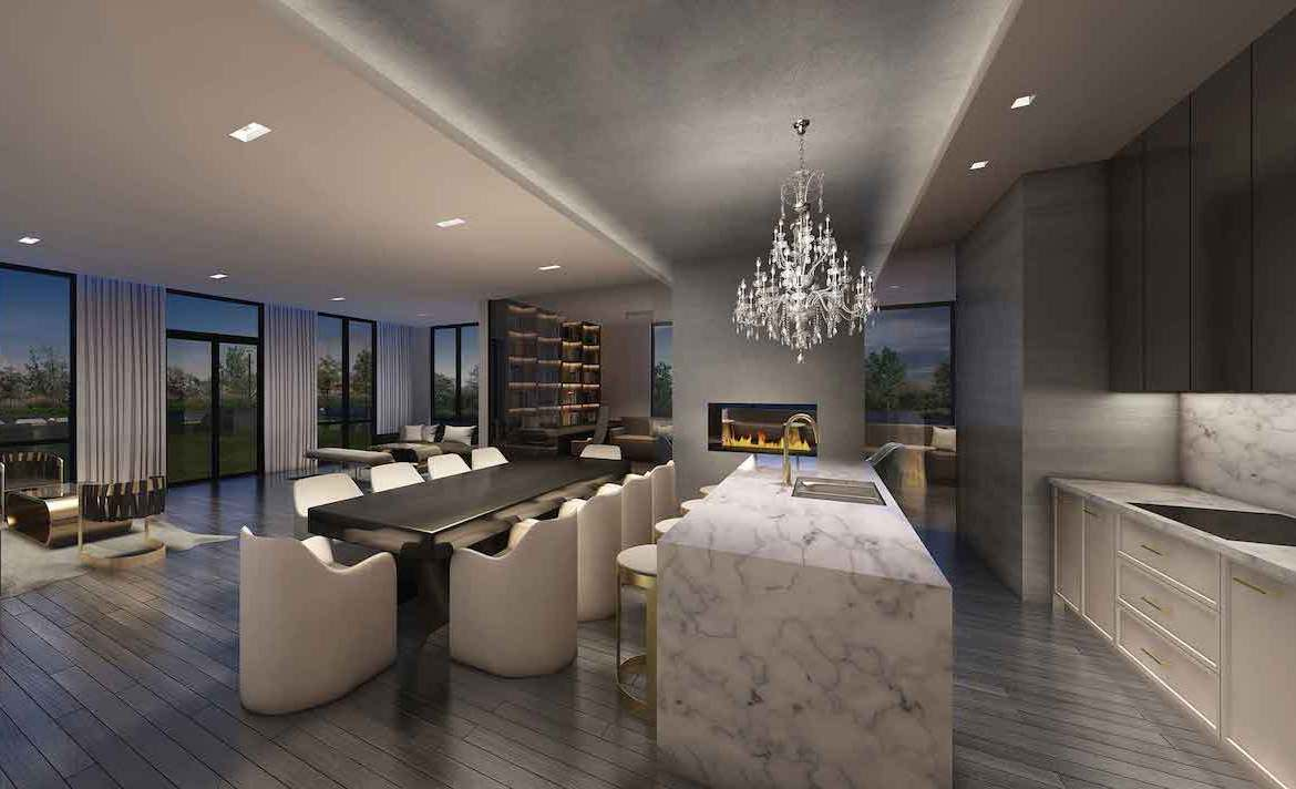 Rendering of 42 Mill St Condos Party Room