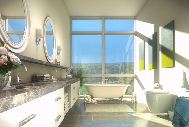 Rendering of Upper Vista Condos suite bathroom