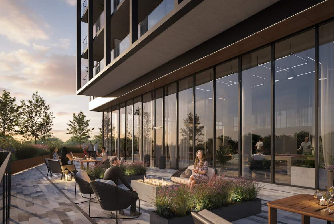Rendering of Grand Central Mimico The Buckingham terrace