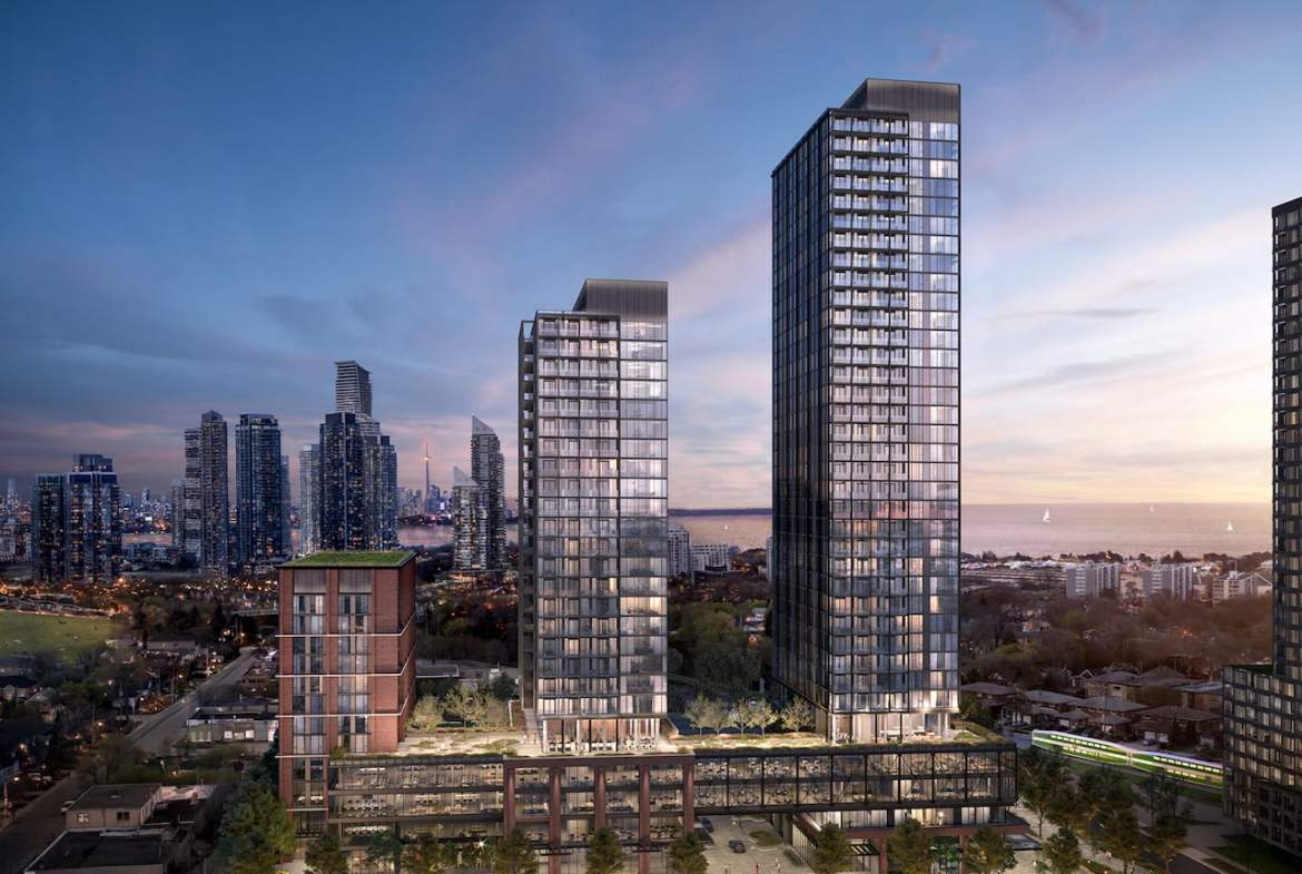 Rendering of Grand Central Mimico exterior aerial