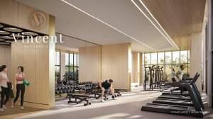 Rendering of Vincent Condos gym