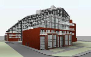 Exterior rendering of 1615 Kingston Road Condos angle 5.