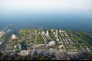 Rendering of Brightwater Towns aerial