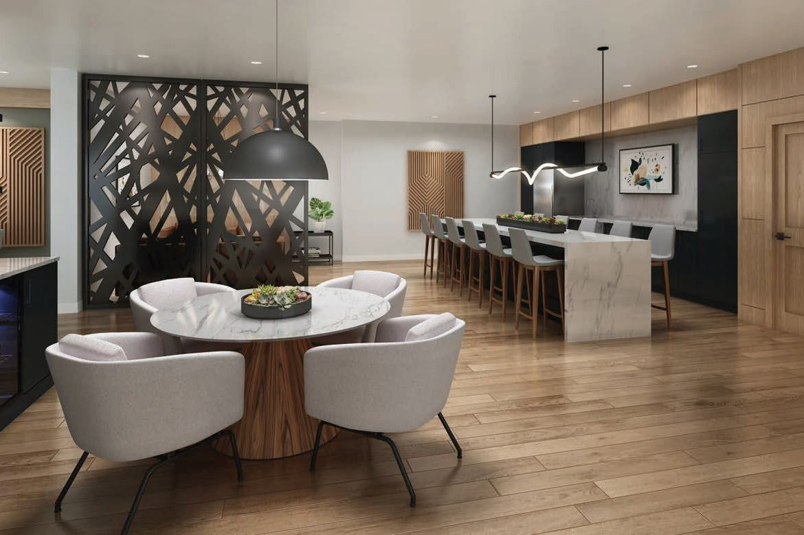 Rendering of Lackner Ridge Condos party room.