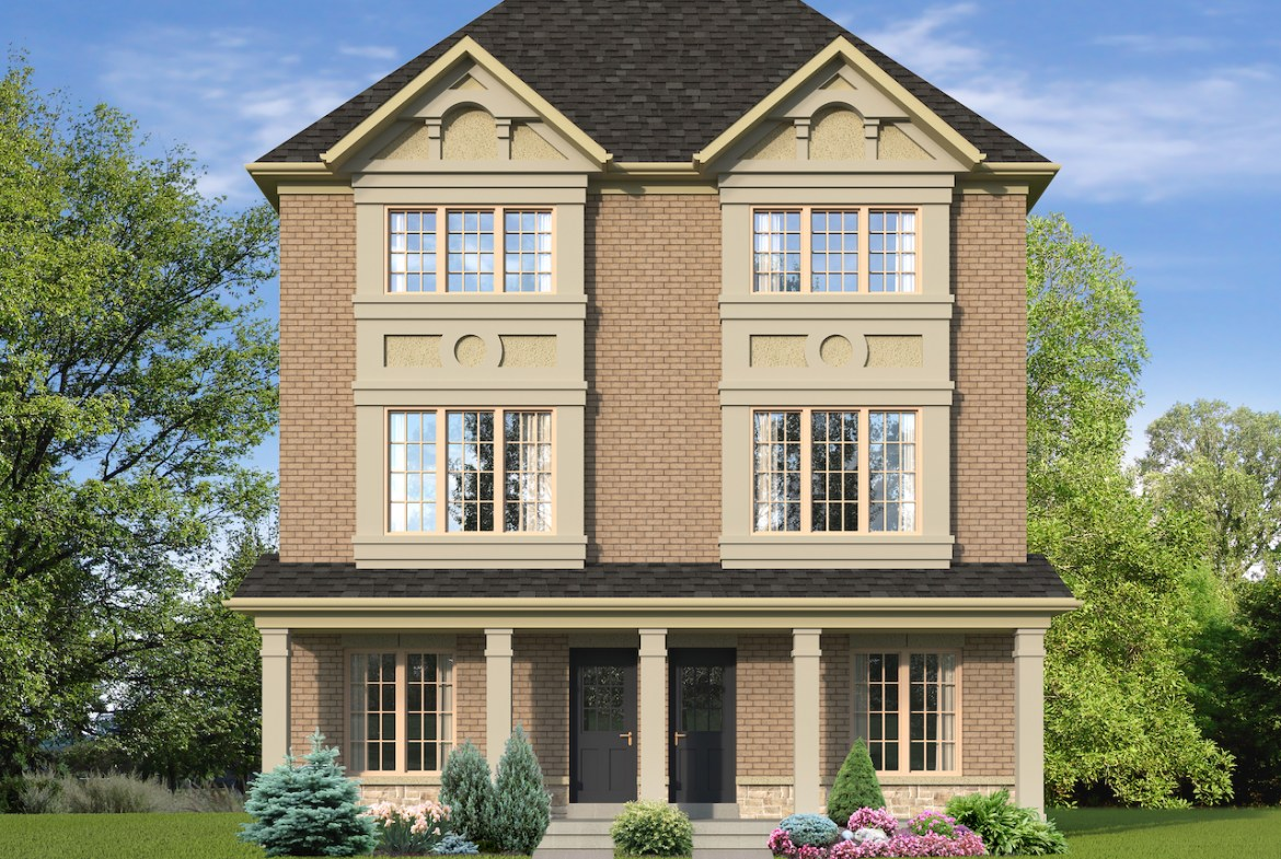 Exterior rendering of The Village at Highland Creek Semis 13-14