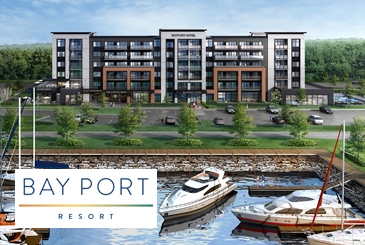 Bay Port Resort Condos by Kaitlin Corporation in Midland on Georgian Bay's southwestern shore