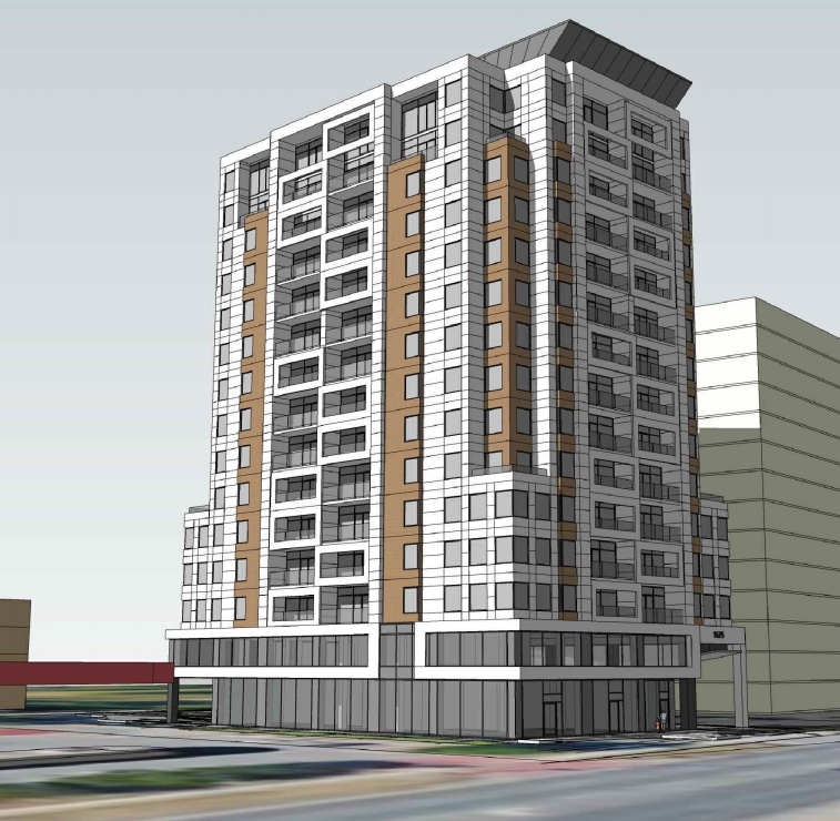 Exterior rendering of 1575 Lawrence Ave Condos in North York