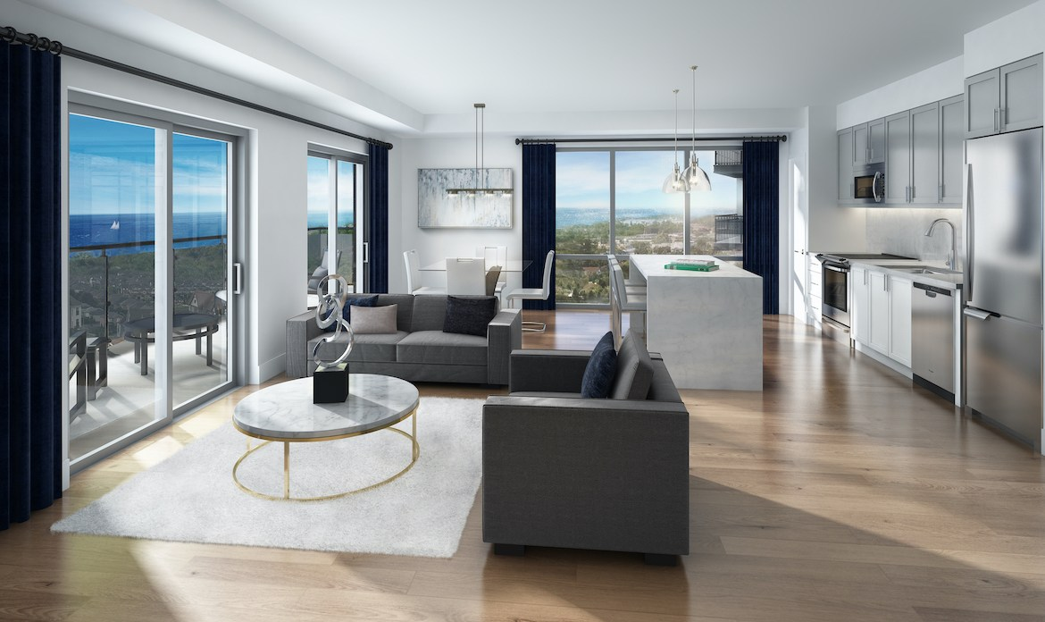 Rendering of MODO Condos suite interior